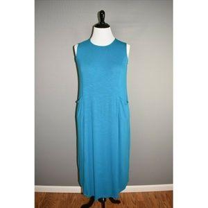 J. JILL NEW Blue Midi Shift Dress